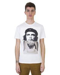 Neil Barrett | Che Guevara Printed White Cotton T-shirt for Men | Lyst