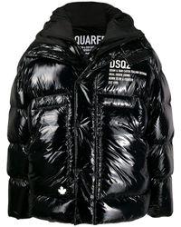 DSquared² Black Nylon Padded Jacket for men
