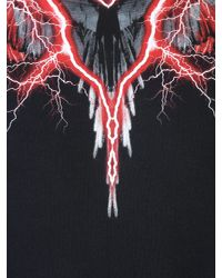 Marcelo Burlon Multicolor Worr Lightning Printed Cotton Sweatshirt for men