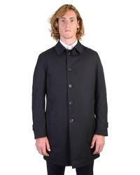 Dell'Oglio - Blue Cotton Blend 3/4 Coat for Men - Lyst