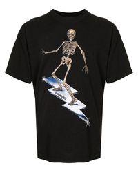 T-shirt di cotone con stampa di DOMREBEL in Black da Uomo