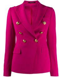 Giacca Alycia stretch di Tagliatore in Pink