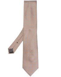 Cravatta di seta con micro-fantasia di Tom Ford in Natural da Uomo
