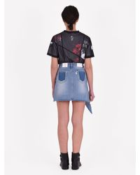 SJYP - Blue Destroyed Denim Skirt - Lyst