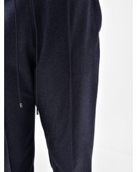 KENZO Blue Tailored Wool Trousers