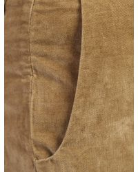 Incotex Multicolor Stretch Velvet Trousers for men