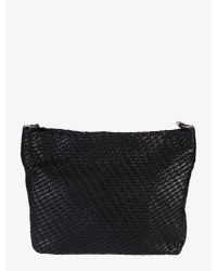 Desa Nineteenseventytwo Black Tata Medium Woven Leather Bag