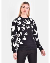 McQ Alexander McQueen Black Printed Cotton Sweatshirt