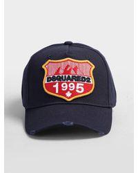 Cappello da baseball con patch di DSquared² in Blue da Uomo