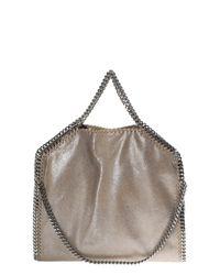 Stella McCartney   Natural Dark Metallic Beige Falabella Triple Chain Bag   Lyst