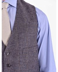 Lardini Blue Silk Gilet for men