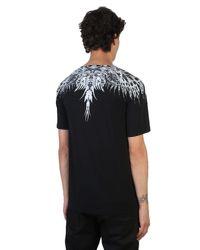 Marcelo Burlon Black Eruek Mechanical Printed Cotton T-shirt for men