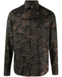 Camicia di cotone con motivo camouflage di Dell