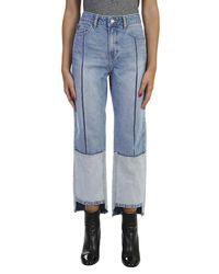 SJYP - Blue Ton On Ton Tomboy Cotton Jeans - Lyst