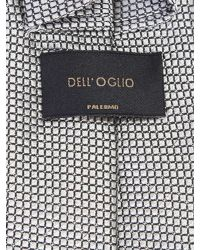 Dell'Oglio - Gray Micropatterned Grey Silk Tie for Men - Lyst