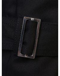 Alexander McQueen Black Stretch Cotton Bondage Jeans for men