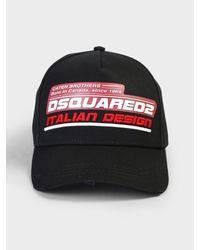 DSquared² Multicolor Embroidered Baseball Hat for men