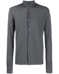 Camicia di Ice cotton di Zanone in Gray da Uomo