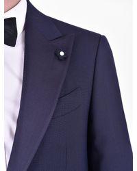 Lardini Blue Wool Tuxedo for men