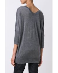 Derek Lam - Gray Dolman Sleeve Sweater - Lyst