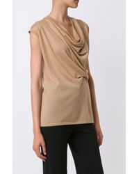 Derek Lam - Brown Asymmetrical Drape Sweater - Lyst