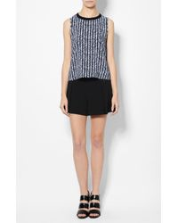 Derek Lam - Blue Crew Neck Shell - Lyst