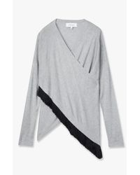 Derek Lam - Gray Cross Front Sweater - Lyst