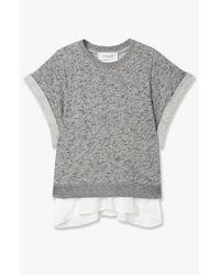 Derek Lam - Gray 2-in-1 Rolled Sleeve Sweater - Lyst