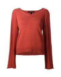 Derek Lam - Red V-neck Sweater - Lyst