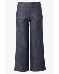 Derek Lam - Blue Side Zip Gaucho - Lyst