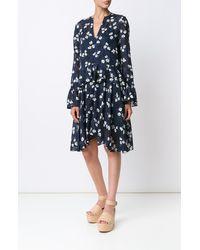 Derek Lam   Blue Bell Sleeve Dress   Lyst