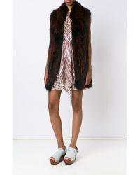 Derek Lam | Black Knitted Fur Vest | Lyst