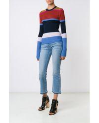 Derek Lam   Blue L/s Stripe Crewneck Sweater   Lyst
