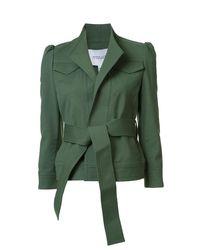Derek Lam - Green Belted Slim Jacket - Lyst