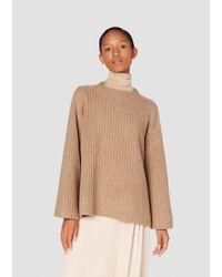 Derek Lam - Natural Long Sleeve Crossover Pullover - Lyst