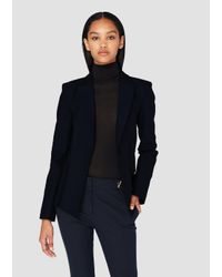 Derek Lam - Blue Single Button Blazer With Grommet Back Detail - Lyst