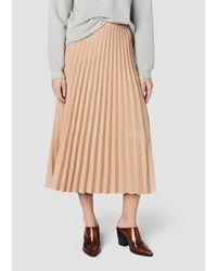 10 Crosby Derek Lam Pink Pleated Lurex Knit Skirt