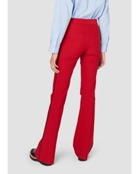 Derek Lam | Red Flare Trouser With Tuxedo Piping | Lyst