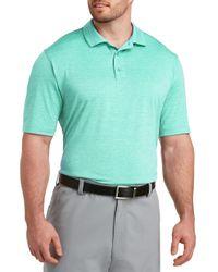 Reebok Blue Big & Tall Speedwick Heather Polo Shirt for men
