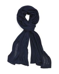 Echo - Blue Solid Wrap - Lyst