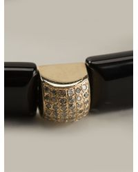 Luis Morais | Black Gold Detail Bracelet for Men | Lyst