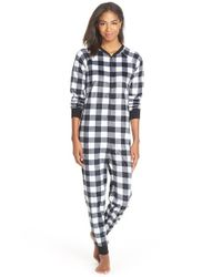 Cozy Zoe | Black Check Bodysuit | Lyst