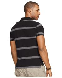 Polo Ralph Lauren - Gray Classic-fit Striped Mesh Polo Shirt for Men - Lyst