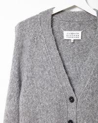 Maison Margiela - Gray V-neck Cardigan - Lyst