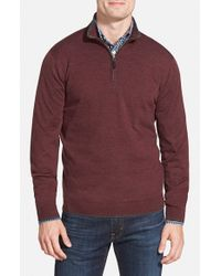 John W. Nordstrom | Brown Regular Fit Quarter Zip Merino Wool Pullover for Men | Lyst