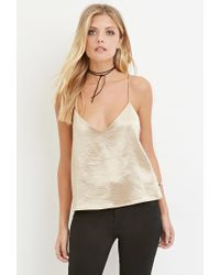 Forever 21 - Contemporary Metallic Cami You've Been Added To The Waitlist - Lyst