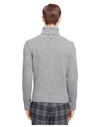 Brooks Brothers Gray Lambswool And Cashmere Turtleneck for men