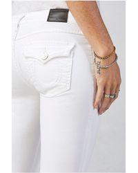 True Religion | White Super Skinny Cropped Womens Jean | Lyst