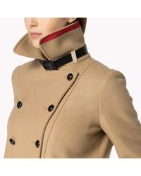 Tommy Hilfiger Natural Wool Blend Double Breasted Coat