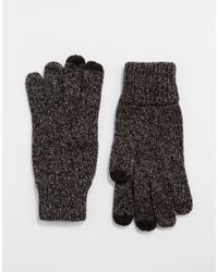 ASOS - Touch Screen Gloves In Black And White Nepp for Men - Lyst
